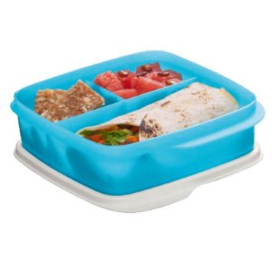 Tupperware Basic Line com Divisórias Azul 550ml