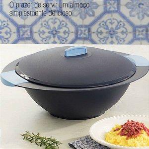 Tupperware Travessa Redonda Actualité 4,5 litros Azul Escuro
