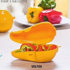Tupperware Porta Pimentão Amarelo