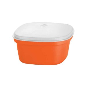Tupperware Travessa Quadrada Actualité 2,5 litro Laranja e Branco