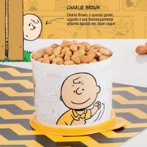 Tupperware Redondinha Charlie Brown 550ml Snoopy