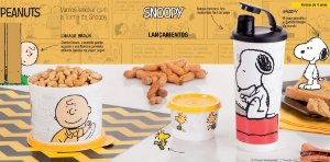 Tupperware Kit Snoopy Charlie Brown 3 peças