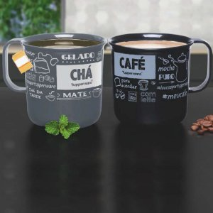 Tupperware Caneca Chá e Café PB 350ml Kit 2 Peças