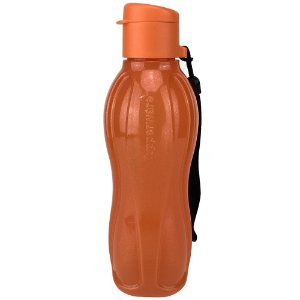 Garrafa Tupperware Eco Tupper Plus Laranja com Glitter 500ml