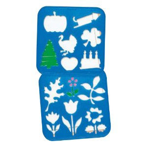 Tupperware Stencil Variados e Flores Azul