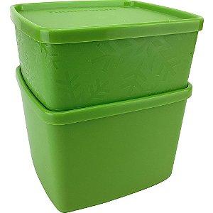 Tupperware Jeitoso 800ml + Jeitosinho Neve 400ml Verde Kit 2 Peças