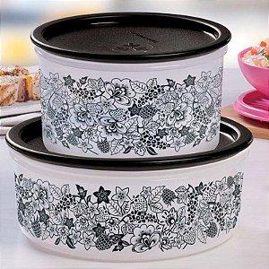 Tupperware Pote Delicatesse Florido 1,75 litros Tampa Preta