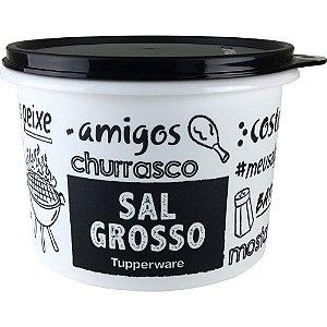 Tupperware Caixa Sal Grosso PB 1kg Preto e Branco