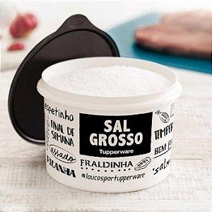 Tupperware Caixa Sal Grosso PB Fun 1,1 kg Preto e Branco