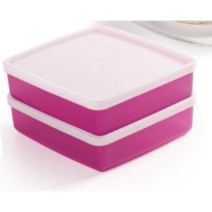 Tupperware Refri Box 400ml Rosa