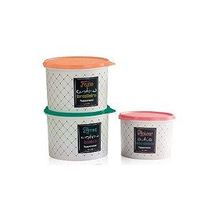 Tupperware Caixas Bistrô Feijão Arroz Açúcar kit 3 peças
