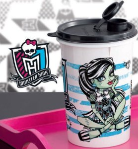 Tupperware Guarda Suco Monster High 1 litro