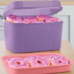 Tupperware Visual Box com Bandeja 4,5 Litros Lilas