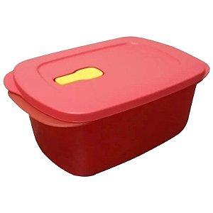 Tupperware Cristalwave Quadrado Geração II 1,7 litro Vermelho