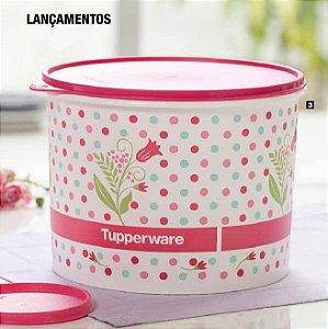 Tupperware Caixa Provençal 5,5 Litros Tampa Rosa