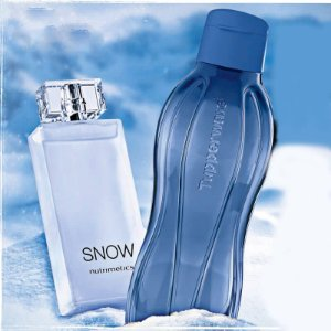 Nutrimetics Snow Deo-Colônia Masculina 100ml + Garrafa Eco Tupper Plus Azul Jeans 1litro