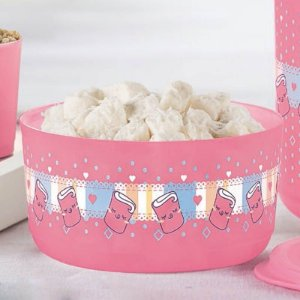 Tupperware Refri Line Docinho 530ml Rosa Estampado