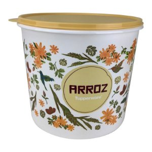 Tupperware Caixa Arroz Floral 5kg Plus