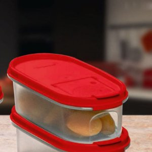 Tupperware Modular Oval Dispenser 1 500ml Vermelho