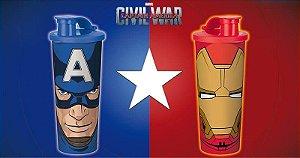 Tupperware Copo Capitão América + Homem de Ferro kit 2 peças
