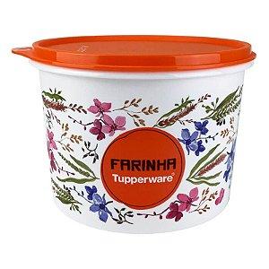 Tupperware Caixa Farinha Floral 1,8kg