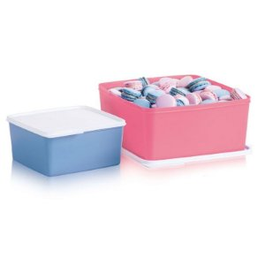 Tupperware Basic Line Azul e Rosa kit 2 peças