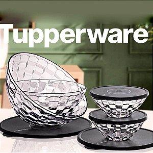 Tupperware Tigelas Prisma  4 peças Transparente