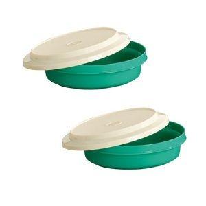 Tupperware Travessa Redonda Actualite 500 ml Verde kit 2 peças