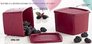 Tupperware Jeitoso Marsala 900ml kit 2 peças