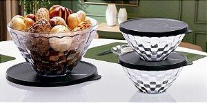 Tupperware Tigelas Prisma kit 3 peças