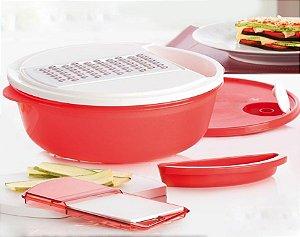 Tupperware Prática Dinâmica 3 litros Vermelha