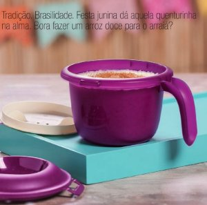 Tupperware Micro Arroz Pequeno 550ml Roxa