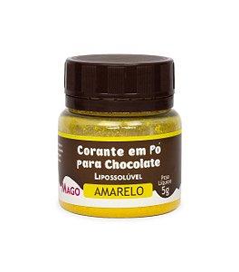 CORANTE EM PÓ PARA CHOCOLATE LIPOSSOLÚVEL - AMARELO - 5g