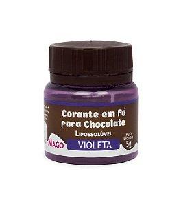 CORANTE EM PÓ PARA CHOCOLATE LIPOSSOLÚVEL - VIOLETA - 5g