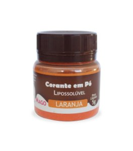 CORANTE EM PÓ PARA CHOCOLATE LIPOSSOLÚVEL - LARANJA - 5g