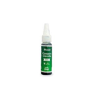 CORANTE LIQUIDO VERDE - 20 ml - MAGO - 1 UNIDADE