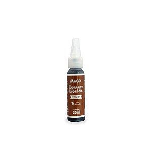 CORANTE LIQUIDO MARROM - 20 ml - MAGO - 1 UNIDADE