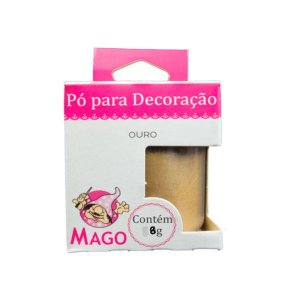 PÓ PARA DECORAÇÃO OURO  - MAGO - 1 UNIDADE