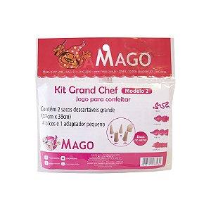 KIT GRAND CHEF - 2 SACOS DESCARTAVEIS GRANDE + 4 BICOS - MAGO