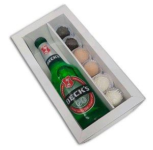 Caixa para Garrafa e 6 doces - Branca - 5 unidades