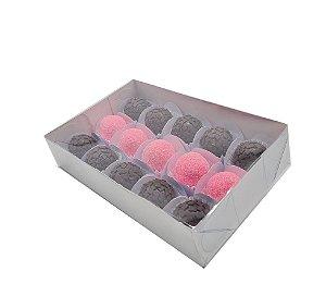 20 Caixas branca Para 15 doces 19x12x4 - pct c/20 unid.