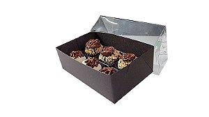 10 Caixas Marrom para 6 doces (12x8x4) - pct c/10 Unid.