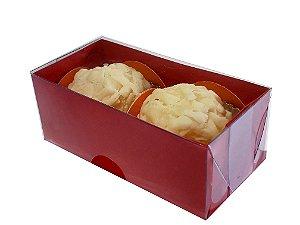 Embalagem vermelha para 2 doces (8 x 4 x 3) - 20 Und.