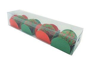 Embalagem de acetato P/4 doces (17,5x4x3,5) PCT C/20 unidades