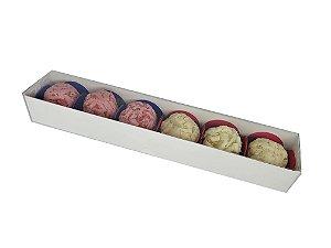 Embalagem brancas para 6 doces ( 23x4x3) - 20 unidades