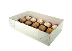 Embalagem branca para 15 doces (20x14x5) pacote c/ 20 Unidades