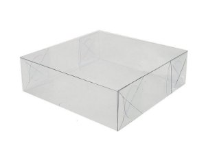 20 Caixas de acetato transparente (11,8x11,8x3,3) pct c/20 Unid.