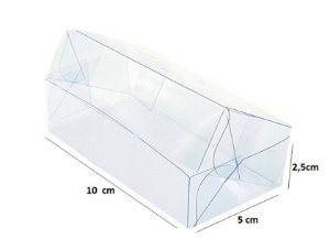 Embalagem de acetato transparente 10x5x2,5 - pacote c/10 Unidades