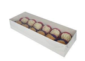 Embalagem brancas para 12 doces (23,5x8,5x4,5) - 100 Unidades