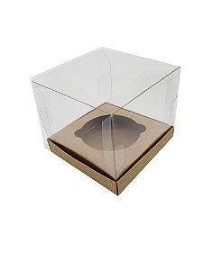 Embalagem kraft para 1 cupcake (7,5x7,5x7,5) pacote c/10 Unidades